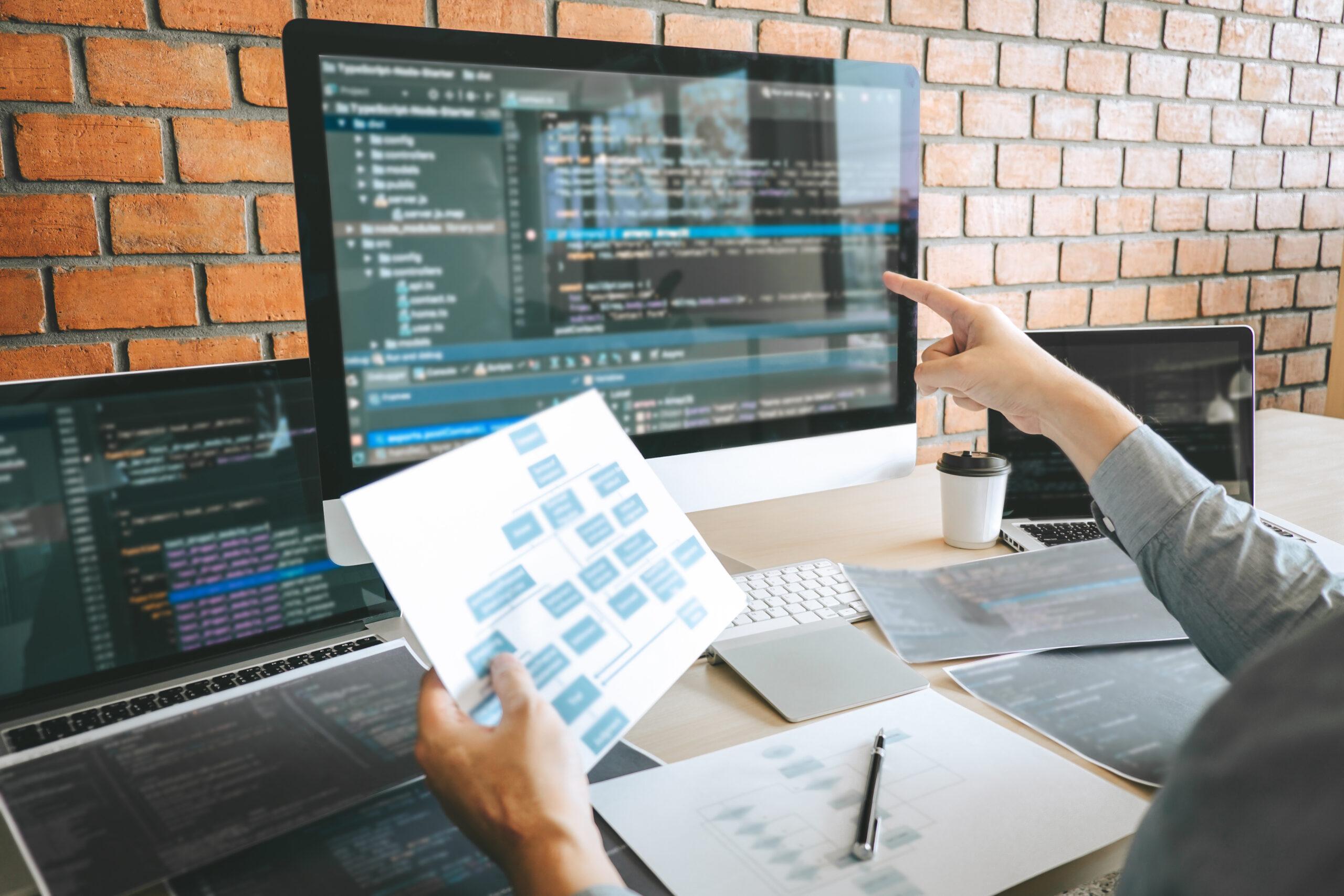 Biuro firmy Webosta, programowanie