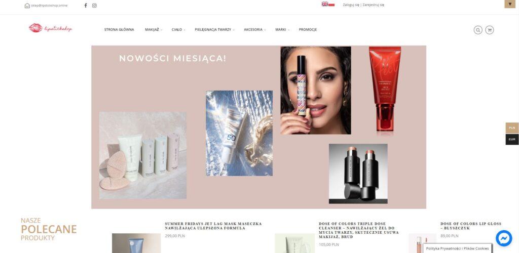 Przykład sklepu internetowego